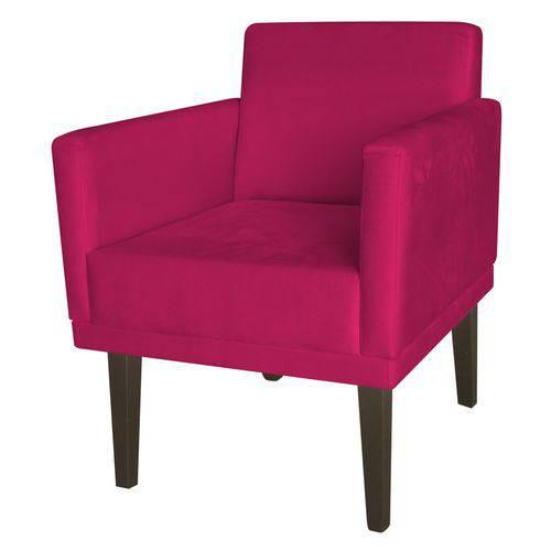 Kit 2 Poltronas Cadeiras Mia para Recepção Sala Escritório Quarto Corino Pink - AM DECOR