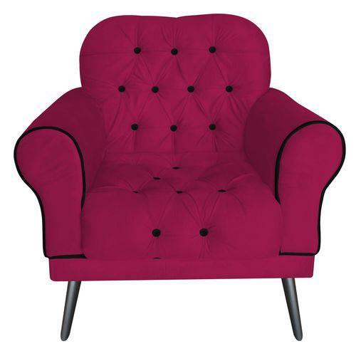 Poltrona Cadeira Olivia para Sala Escritório Recepção Suede Pink - AM DECOR