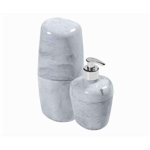 Kit Porta Escova/Sabão Líquido Branco - KBB1/2 BR MM - Astra - Astra