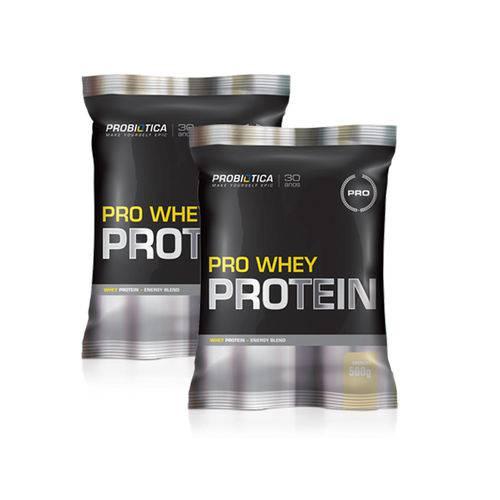 Kit 2 Pro Whey Protein Concentrado - 500g - Probiótica