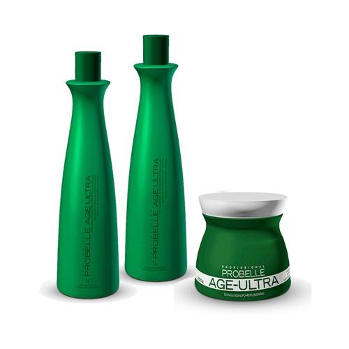 Kit Probelle Shampoo + Condicionador 1000ml Grátis Máscara 250g Age Ultra