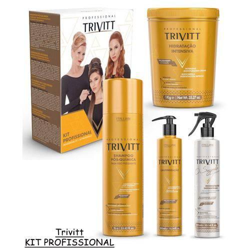 Kit Profissional Itallian Trivitt 2018 Hidratação 4 Produtos