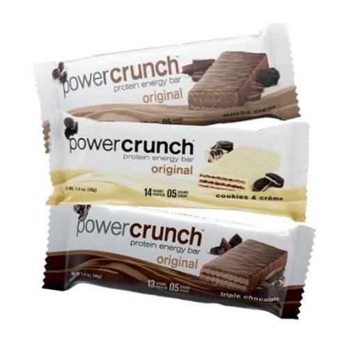 Kit 3 Proteínas Power Crunch 1 Mocha & Crème + 1 Cookies Créme + 1 Triple Chocolate - Bnrg