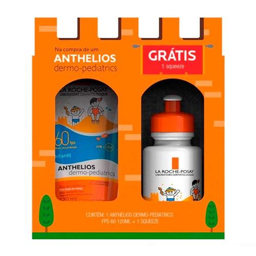 Kit Protetor Solar Anthelios Dermo-Pediatrics FPS 60 120ml + Grátis Squeeze Sortida
