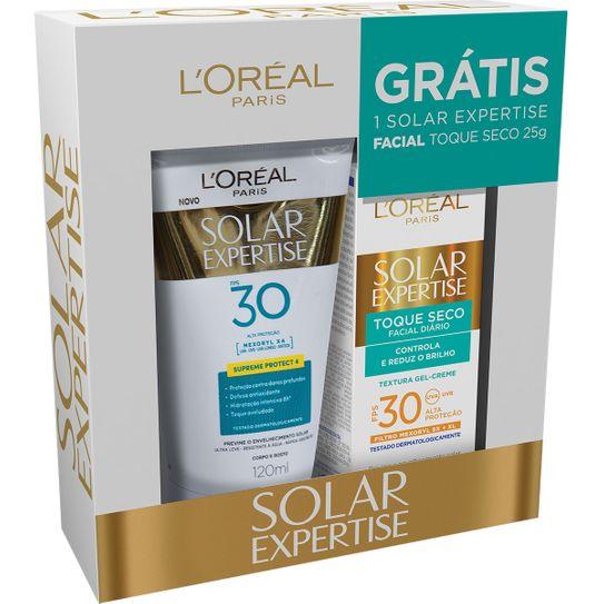 Kit Protetor Solar L´oréal Supreme Protect 4 Fps30 120ml + Protetor Solar L´oréal Facial Fps30 25g