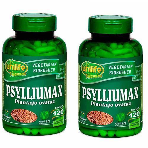 Kit 2 Psyllium 240 Cápsulas Psylliumax Unilife