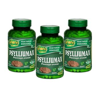 Kit 3 Psyllium Unilife Psylliumax 120 Cápsulas