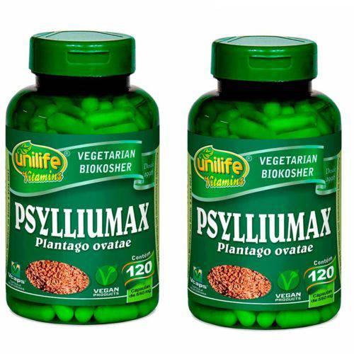 Kit 2 Psylliumax - Psyllium 240 Cápsulas de 550mg Unilife