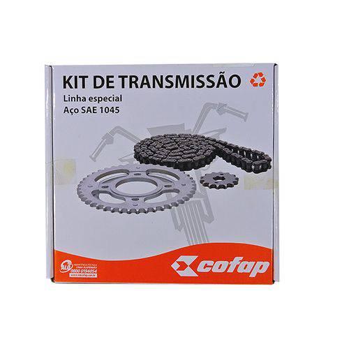 Kit Relação Transmissão Cofap Honda Cg - Titan - Fan 150 de 2004 Ate 2015 - Corrente Coroa e Pinhão