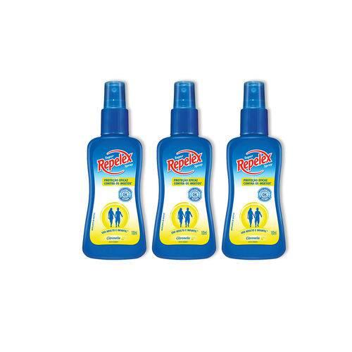 Kit Repelente Repelex Spray Citronela 100ml 3 Unidades