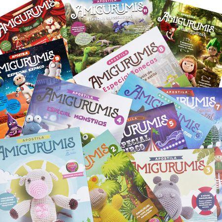 Kit Revistas Amigurumis - Todas as 12 Apostilas