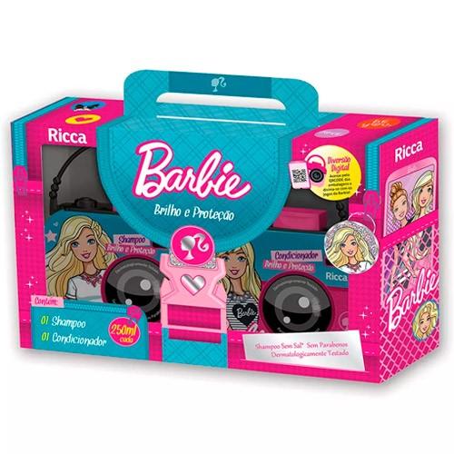 Kit Ricca Barbie Brilho e Proteção Shampoo + Condicionador 250ml