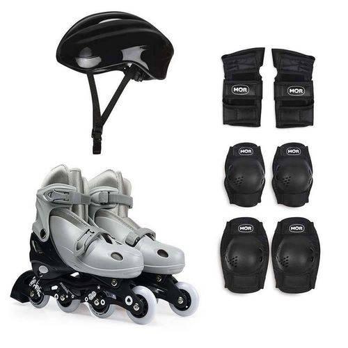 Kit Roller Cinza Ajustavel 34 ao 37 Mor