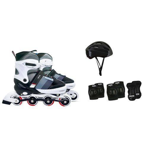 Kit Roller Semi-pro Cinza Tamanho M 34-37