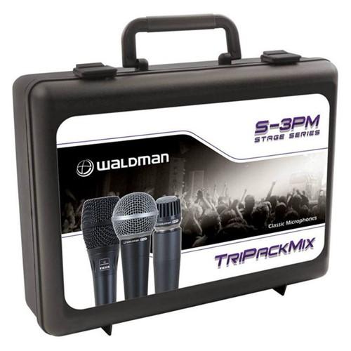Kit S-3PM com 3 Microfones Clássicos Stage: S-570, S-580 e S-8701, Dinâmicos, Case, Cachimbos - WALD