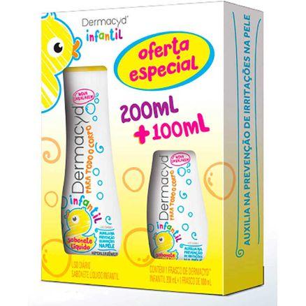 Kit Sabonete Íntimo Dermacyd Infantil 200ml + 100ml Oferta Especial