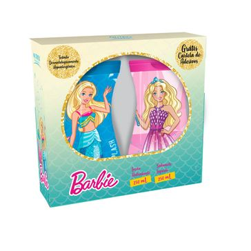 Kit Sabonete Líquido Barbie 250ml + Loção Hidratante Desodorante 230ml