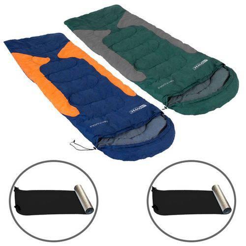 Kit 2 Sacos de Dormir Freedom -1,5ºc à -3,5ºc + 2 Isolantes Térmicos Aluminizado - Nautika