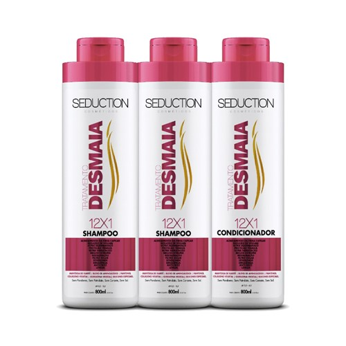 Kit Seduction Desmaia Cabelo 2 Shampoo 800ml + Condicionador 800ml