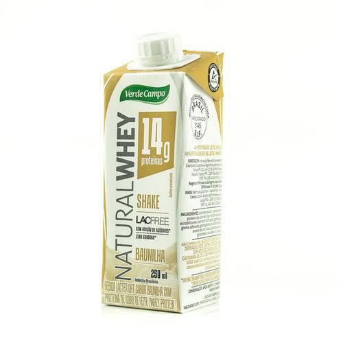 Kit 3 Shake Natural Whey Baunilha 250 Ml Verde Campo