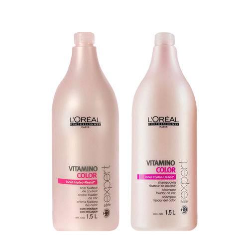 Kit Shampoo 1,5l + Condicionador 1,5l Vitamino Color Loréal Professionnel