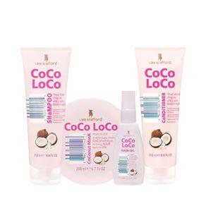 Kit Shampoo 250ml + Condicionador 250ml + Máscara 200ml + Óleo 75ml Coco Loco Lee Stafford
