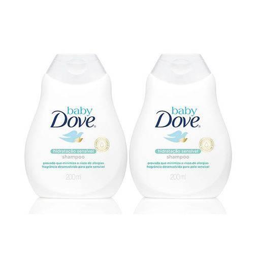 Kit Shampoo Baby Dove Hidratação Sensível