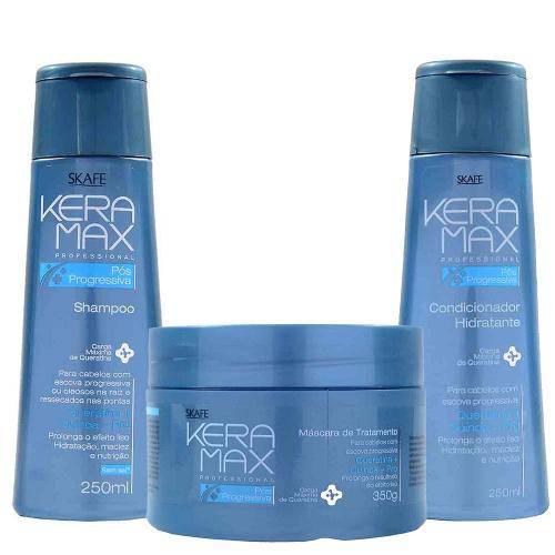 Kit Shampoo Condicionador e Máscara Keramax Pós-Progressiva - Skafe