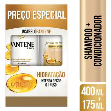 Kit Shampoo + Condicionador Hidratação Pantene 400+175ml