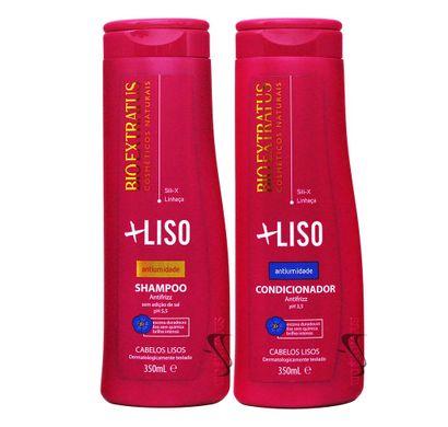 Kit Shampoo Condicionador +Liso Antiumidade 350ml - Bio Extratus
