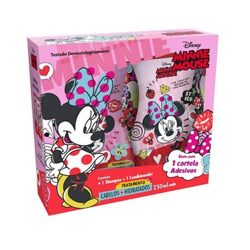 Kit Shampoo + Condicionador Minnie Cabelo Hidratado 250ml