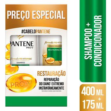 Kit Shampoo + Condicionador Restauração Pantene 400+175ml