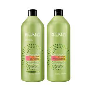 Kit Shampoo Curvaceous 1000ml + Condicionador Curvaceous 1000ml Redken