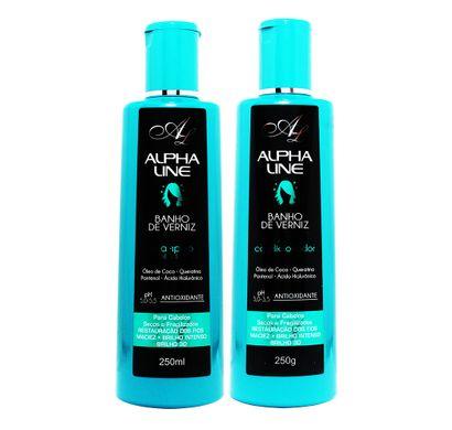 Kit Shampoo e Condicionador Banho de Verniz - Alpha Line