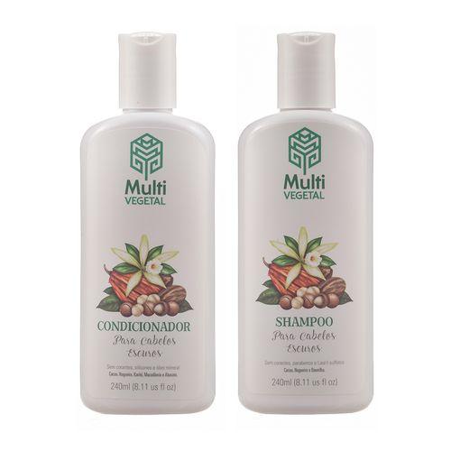 Kit Shampoo e Condicionador para Cabelos Escuros - Multi Vegetal