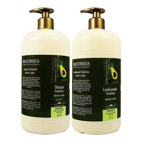 Kit Shampoo e Condicionador Pós Química Abacate e Jojoba 1l - Bio Extratus
