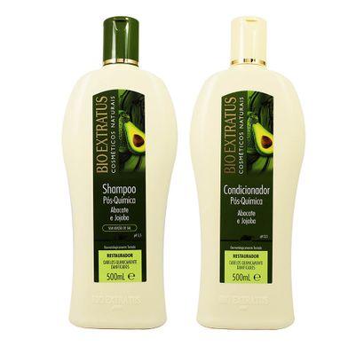 Kit Shampoo e Condicionador Pós Química Abacate e Jojoba 500g - Bio Extratus