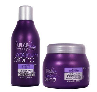 Kit Shampoo e Máscara Platinum Blond - Forever Liss