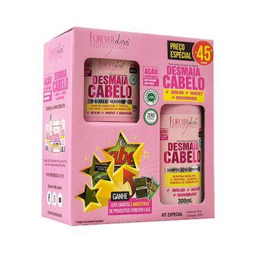 Kit Shampoo Forever Liss Desmaia Cabelo Shampoo 300ml + Mascara 200g