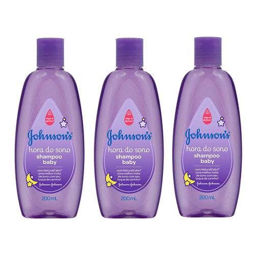 Kit Shampoo Johnson´s Baby Hora do Sono 200ml 3 Unidades