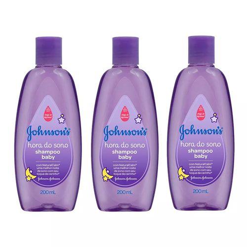 Kit Shampoo Johnson's Baby Hora do Sono 200ml 3 Unidades