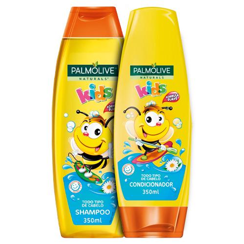 Kit Shampoo Palmolive Naturals Kids 350ml 2 Unidades