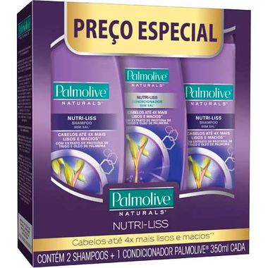 Kit 2 Shampoos + Condicionador Nutri Liss Palmolive 350ml