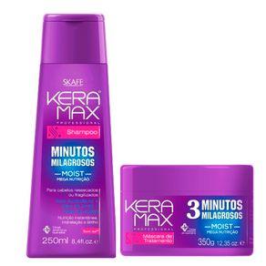 Kit Skafe Keramax Minutos Mágicos (Shampoo e Máscara) Conjunto