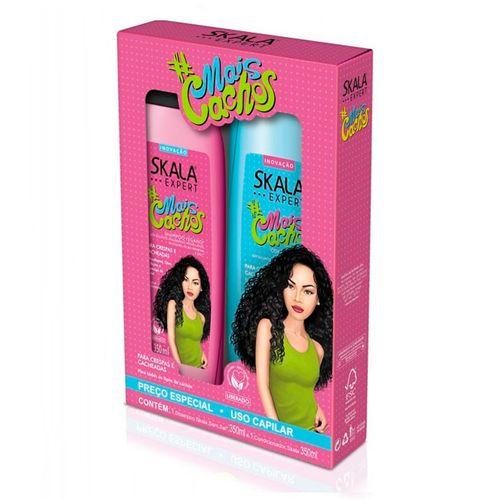 Kit Skala Shampoo 350ml + Condicionador Mais Cachos 350ml