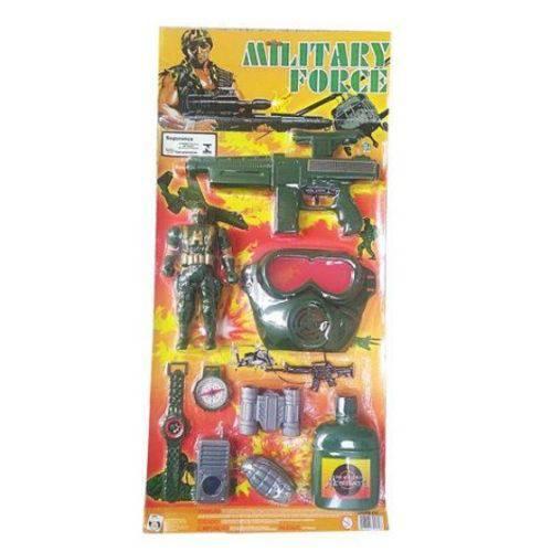 Kit Soldado Militar Infantil 10 Peças