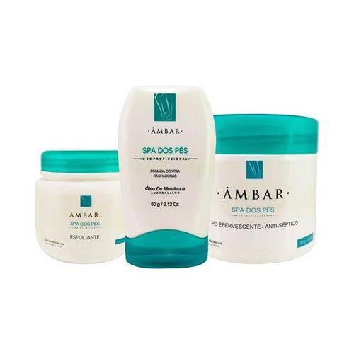 Kit Spa dos Pés Produtos Profissional (3 Etapas de Tratamento) - ÂMBAR