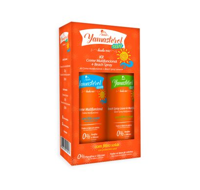 Kit Sun Creme Multifuncional e Beach Spray Yamasterol - Yamá