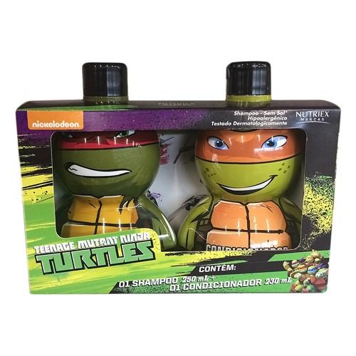 Kit Tartarugas Ninja Shampoo 250ml + Condicionador 230ml