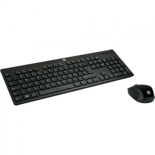 Kit Teclado Mouse Wireless C200 Preto Hp